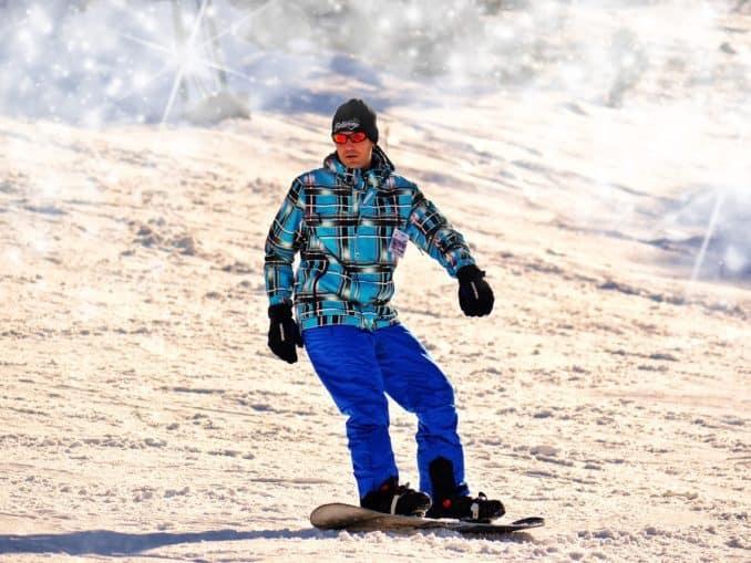 Snowboarding im Wintersporturlaub